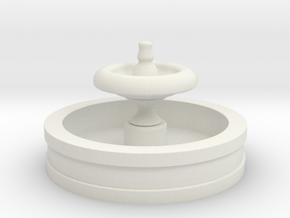 OO Scale Fountain in White Natural Versatile Plastic