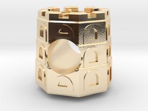 Gediminas Tower European Bracelet Charm in 14K Yellow Gold