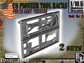 1-10.5 US Pioneer Tool Rack in White Natural Versatile Plastic