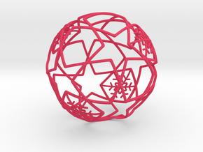 iFTBL Xmas Frozen Stars Ball - Ornament 60mm ' in Pink Processed Versatile Plastic