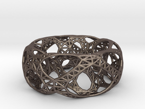 Frohr Design Bracelet Bridge in Polished Bronzed Silver Steel