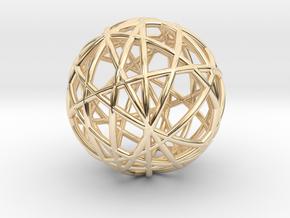 Random Wire Sphere in 14K Yellow Gold