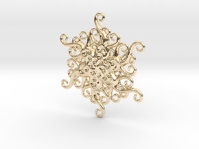 Snowflake Ornament in 14k Gold Plated Brass