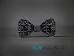 "Designer Bow Tie ""X1X"" in Black Natural Versatile Plastic"