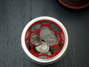 Coin Filter in Red Processed Versatile Plastic