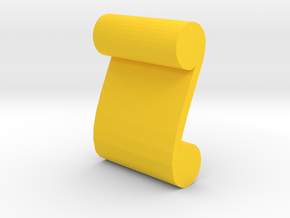 Game Piece, Scroll Artifact in Yellow Strong & Flexible Polished