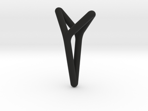 YOUNIVERSAL, Pendant. Bold Elegance in Black Natural Versatile Plastic