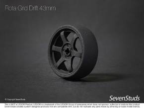 Drifting Wheel 43mm in Black Natural Versatile Plastic