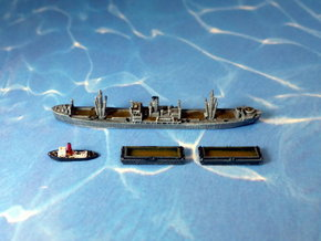 WWII Hansa Type 9000 Freighter & Tug 1/2400 in Smooth Fine Detail Plastic