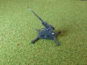 German Single 12,8 cm Flak 40 1/285 in Smooth Fine Detail Plastic
