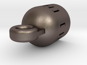 Push Button Quick Detach Socket (metal) in Polished Bronzed Silver Steel