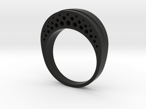 Evaporation Ring - US Size 06 in Black Natural Versatile Plastic