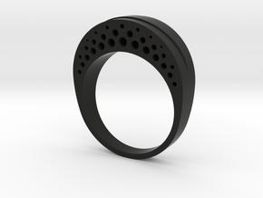 Evaporation Ring - US Size 06 in Black Natural Versatile Plastic