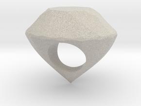 The Diamond Ring in Natural Sandstone
