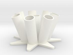 Pen Holder in White Processed Versatile Plastic
