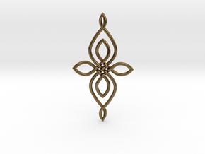 Custom Celtic Knot 01 in Natural Bronze