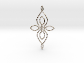 Custom Celtic Knot 01 in Rhodium Plated Brass