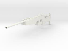 Gun Anschutz Style- (540mm) in White Natural Versatile Plastic