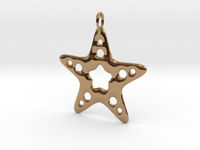 Starfish Pendant in Polished Brass