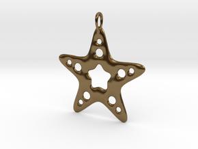 Starfish Pendant in Polished Bronze