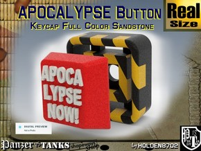 Full Color Button of APOCALYPSE NOW in Full Color Sandstone