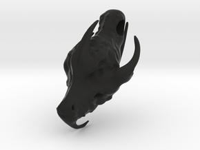 Dragon Head.stl in Black Natural Versatile Plastic