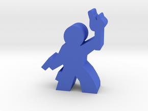 Game Piece, Guy Adventurer with gun, holster in Blue Processed Versatile Plastic