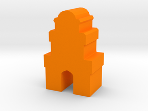Game Piece, Desert Tower in Orange Processed Versatile Plastic