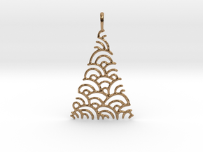 Christmas Tree Pendant Style 2 in Polished Brass