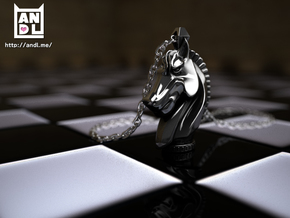 Knight Dream(pendant) in Polished Silver