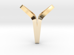 YOUNIVERSAL BOND, Pendant. Pure Elegance in 14K Yellow Gold