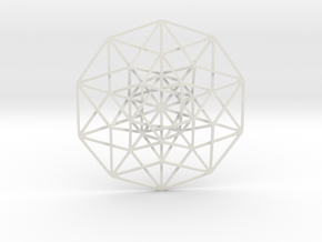 5D Hypercube in White Strong & Flexible