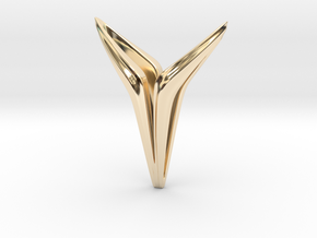 YOUNIVERSAL Smooth, Pendant. Universal Chic in 14K Yellow Gold