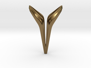 YOUNIVERSAL Big Y!, Pendant. Big Chic in Polished Bronze
