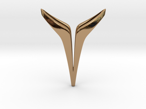 YOUNIVERSAL Delicate, Pendant. Soft Elegance in Polished Brass