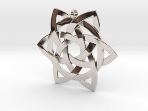 Celtic-star-pendant in Platinum