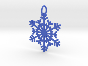 Snowflake Ornament/Pendant in Blue Strong & Flexible Polished