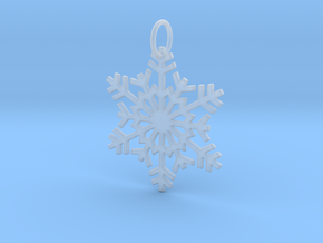 Snowflake Ornament/Pendant in Smooth Fine Detail Plastic