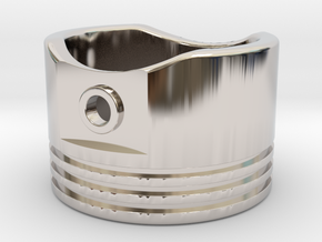 Piston - US Size 8.5 in Rhodium Plated Brass