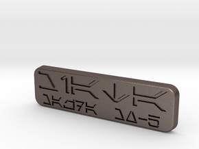 Miata Emblem (star wars) in Polished Bronzed Silver Steel