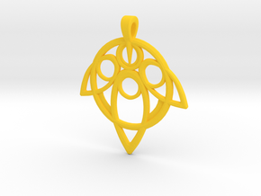 Yuna Summoner Pendant  in Yellow Strong & Flexible Polished