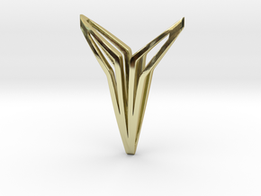 YOUNIVERSAL FIGURA Pendant. Sculpted Chic in 18k Gold Plated Brass