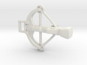 Crossbow Charm in White Natural Versatile Plastic