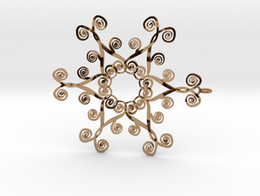 Suessish Snow Flake - 7cm in Polished Brass