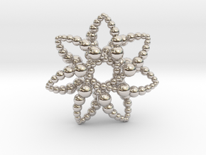 Bubble Star 7 Points - 4cm in Platinum