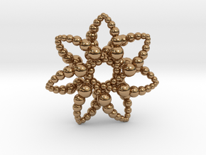 Bubble Star 7 Points - 4cm in Polished Brass