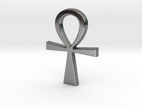 Ankh Pendant in Fine Detail Polished Silver
