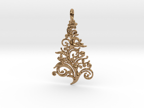 Christmas Tree Pendant 6 in Polished Brass