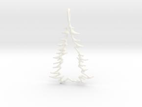 Christmas Tree Pendant 10 in White Processed Versatile Plastic