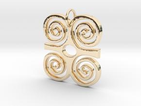 DWENNIMMEN (Adinkra Symbol of Strength) in 14k Gold Plated Brass